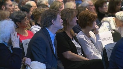 Jack Phillips at a rally at Colorado Christian University (credit: CBS)