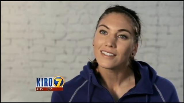 Hope Solo. courtesy of KIRO TV Seattle.