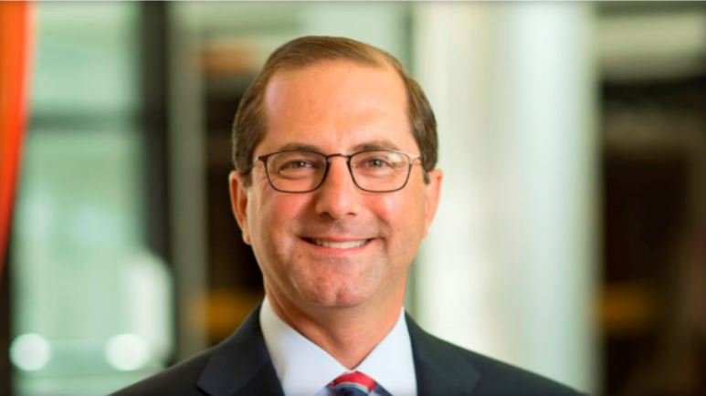 FILE: Alex Azar, HHS secretary nominee  ELI LILLY VIA WIKIMEDIA COMMONS