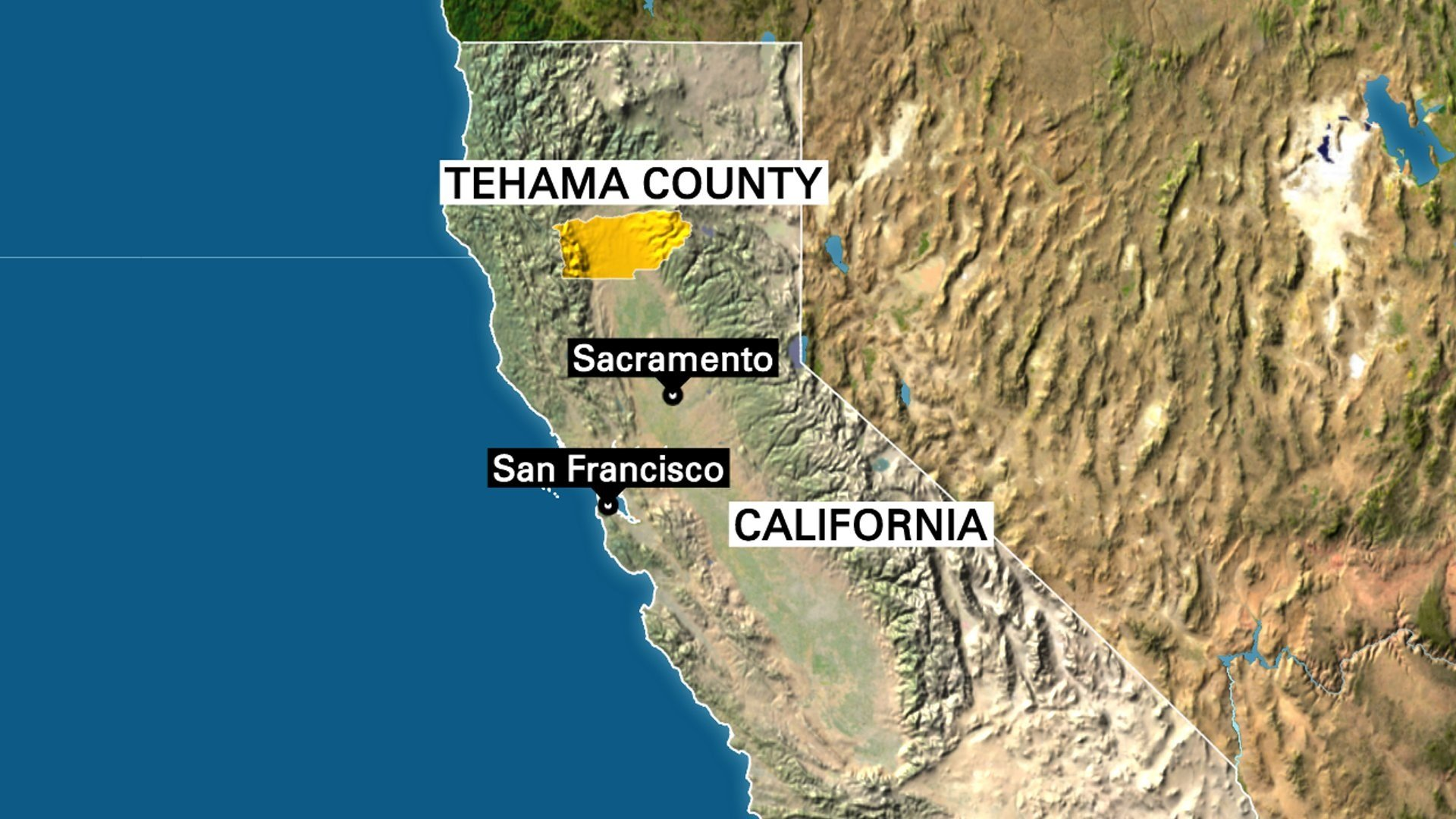 At least five people were killed Tuesday in northern California's Tehama County, Assistant Sheriff Phil Johnston said.
