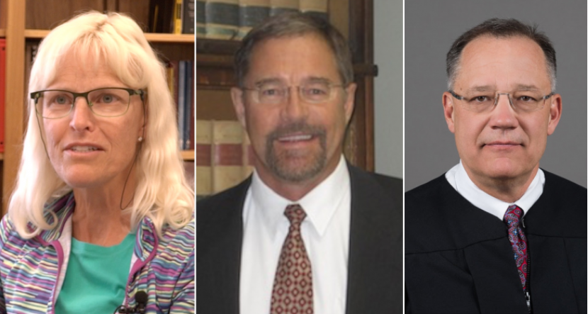Montana Supreme Court candidates (left to right): Ingrid Gustafson, Mike Lamb, Russ McElyea