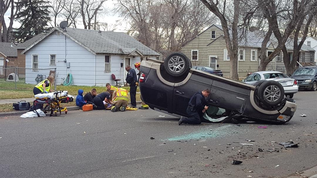 Rollover crash sends 4 kids to hospital (MTN News/Paul Humphrey Photo)