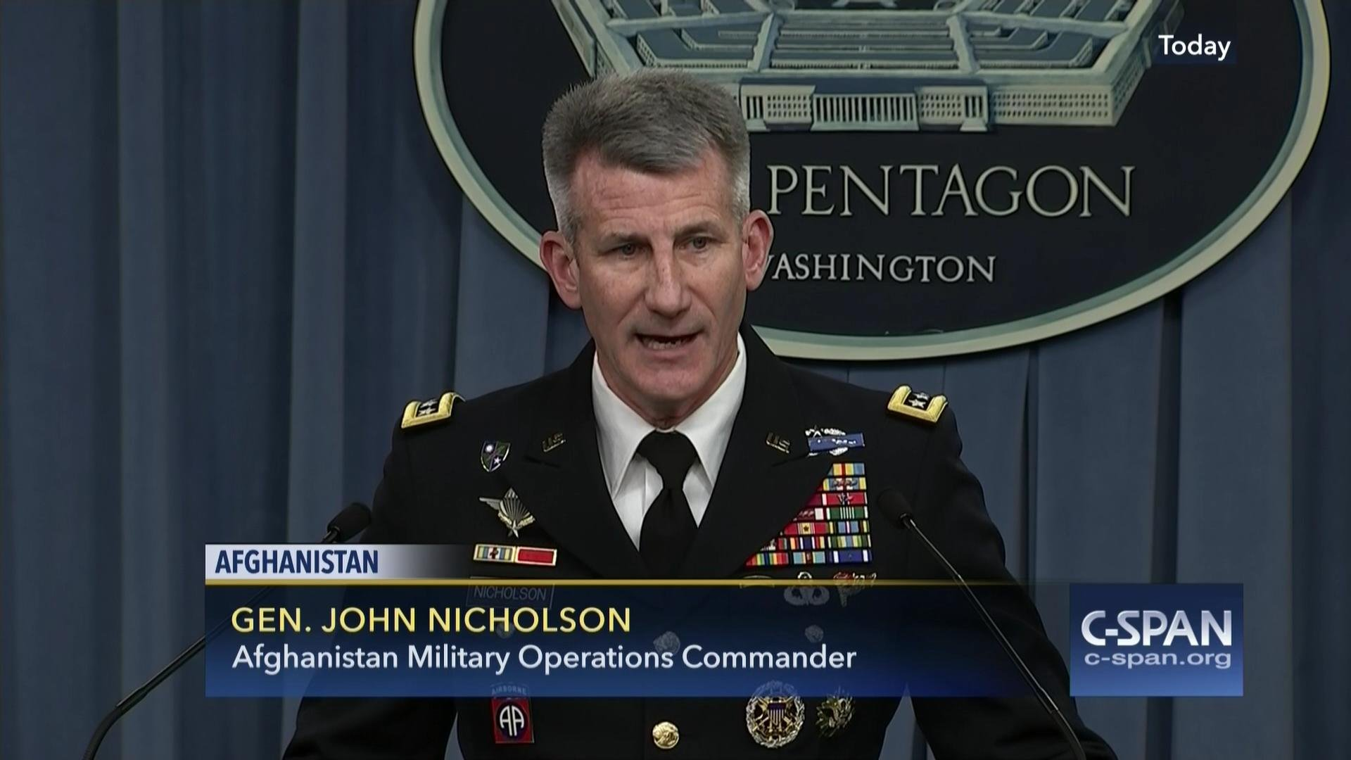 Gen. John Nicholson. courtesy of C-Span.