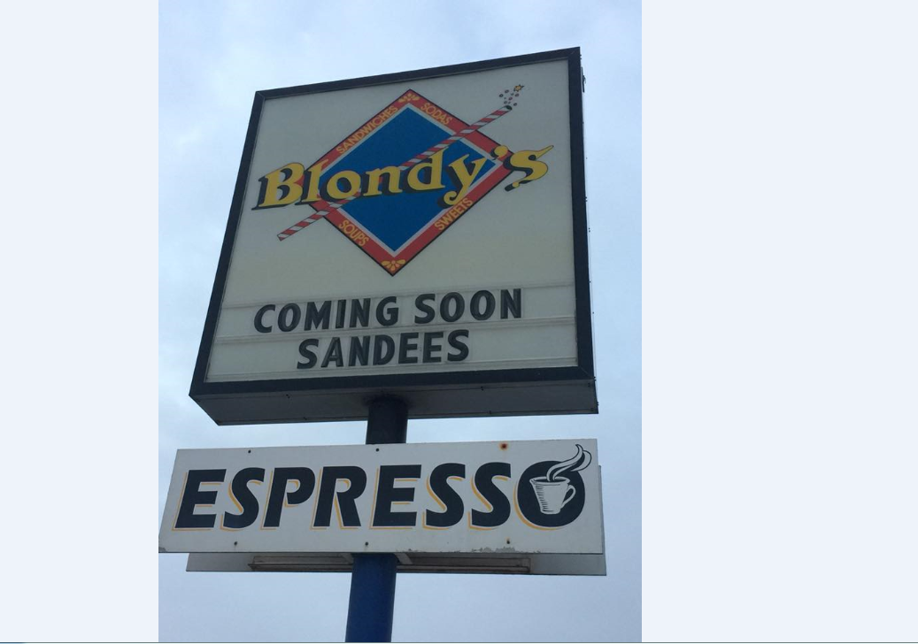 Sandee's is moving into the former Blondy's restaurant. courtesy of Sandee's.