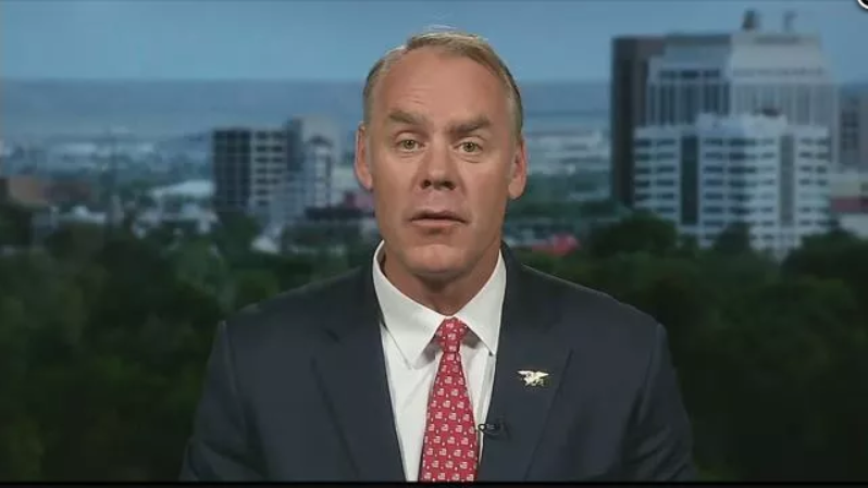 Ryan Zinke, Secretary of the Interior.