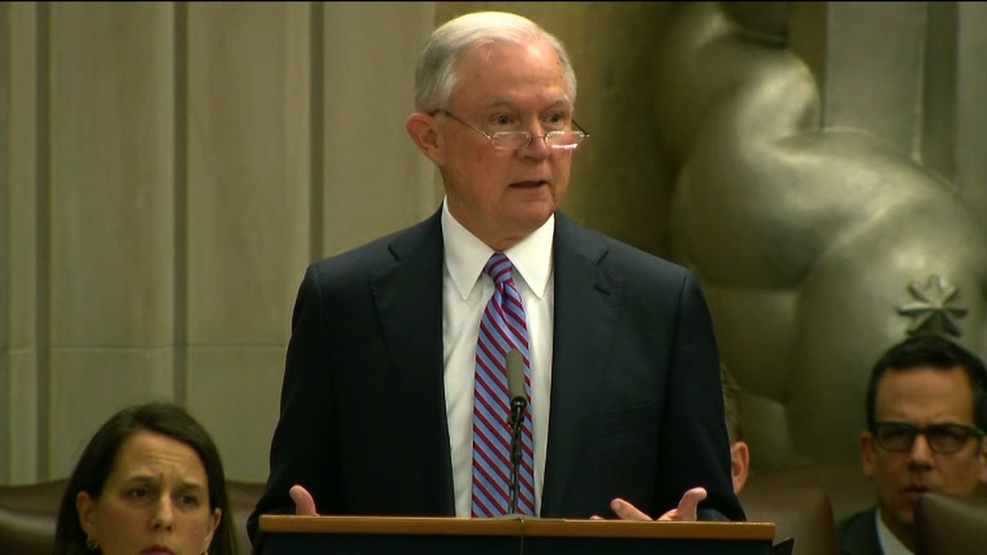 Attorney General Jeff Sessions. courtesy CNN.