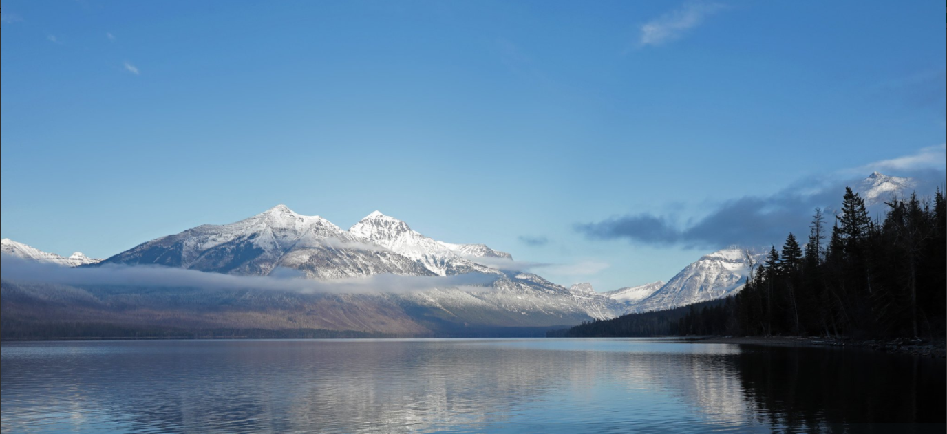 Lake McDonald at Glacier National Park. courtesy of Glacier National Park Twitter feed.