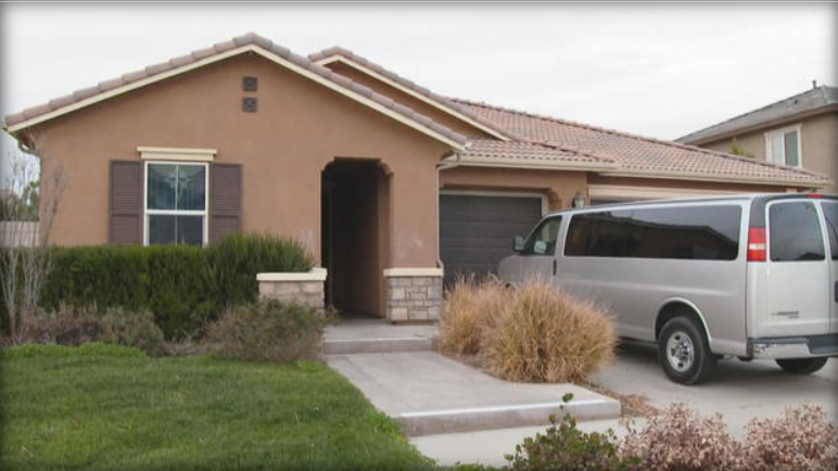 The home of a California couple accused of imprisoning their children. CBS News.