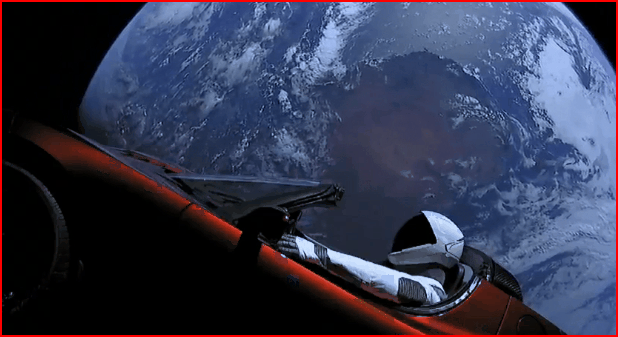 Starman Now Heading To The Asteroid Belt Rather Than Going To Mars