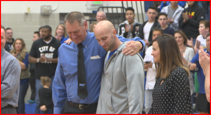 Deputy Jeff Pelle honored at Longmont High School. (credit: CBS)