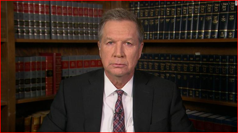 Former Ohio Gov. John Kasich. CNN photo