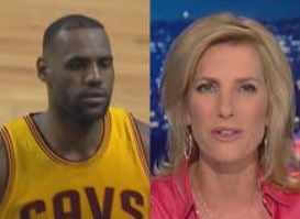 "NBA superstar LeBron James said he would refuse to, as Fox News host Laura Ingraham had suggested, ""shut up and dribble."" / CBS NEWS"