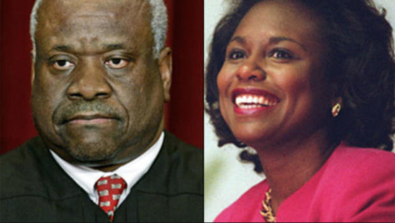 Clarence Thomas and Anita Hill. courtesy of CBS News