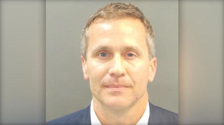 Booking photo of Missouri Gov. Eric Greitens  ST. LOUIS METROPOLITAN POLICE DEPARTMENT