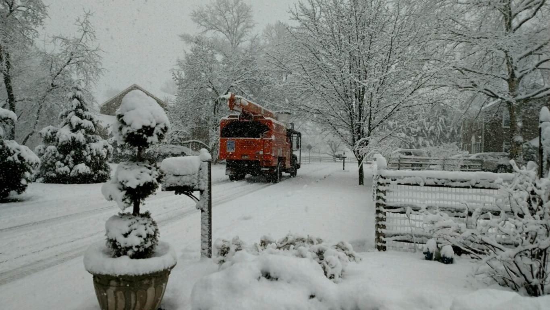 Snow covered Pennsylvania during the region's second major storm. Thomas Flynn photo