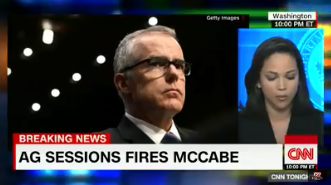 Andrew McCabe fired. CNN.