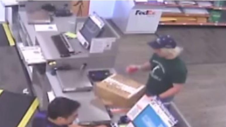Man described as person of interest in series of bombings in Austin, Texas is seen in a FedEx store in the city in March 18, 2018 surveillance video obtained by CBS Austin affiliate KEYE-TV / KEYE-TV