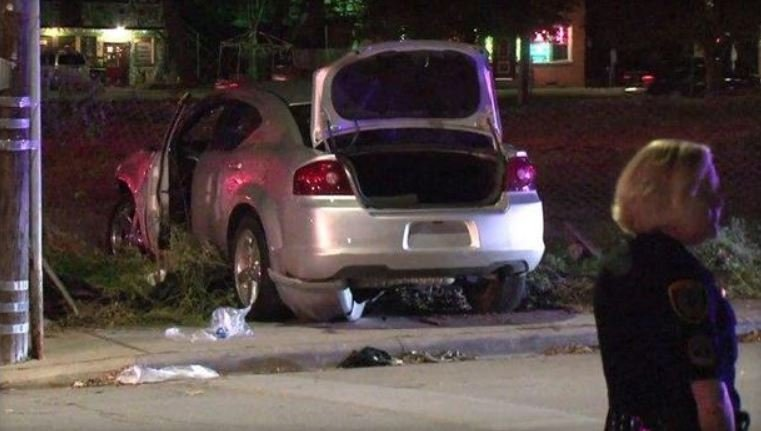 Police say the man is accused of getting into his sedan and intentionally driving it into a group of people. /  KHOU