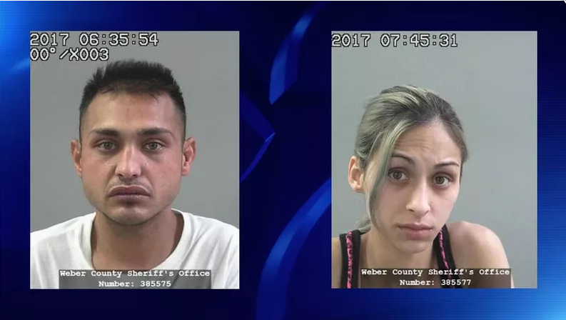 Costello (left) and Emile (right) are accused of killing their 3-year-old daughter (KUTV)