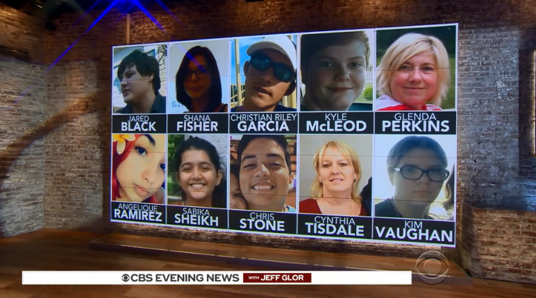 The 10 victims of the shooting at Santa Fe High School in Texas. CBS News.