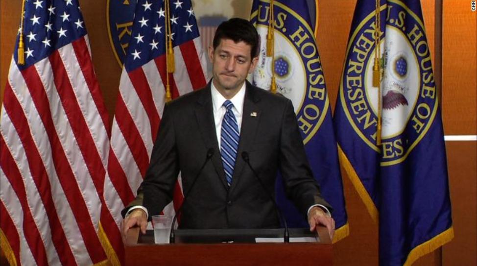House Speaker Paul Ryan. CNN photo.