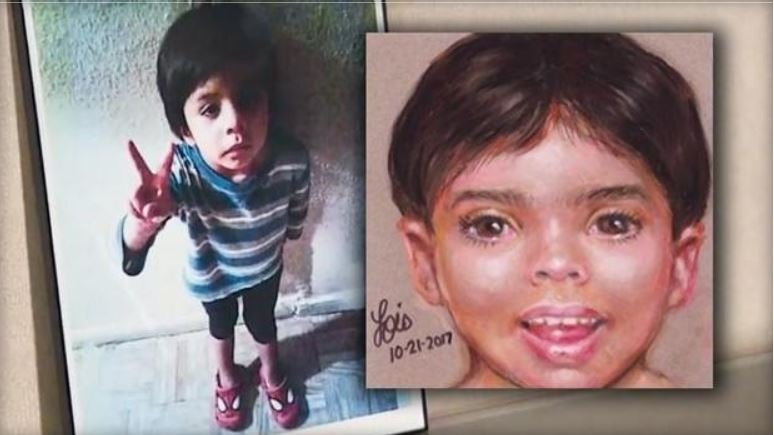 """A sketch of """"Little Jacob,"""" right, who has been identified / KHOU"""
