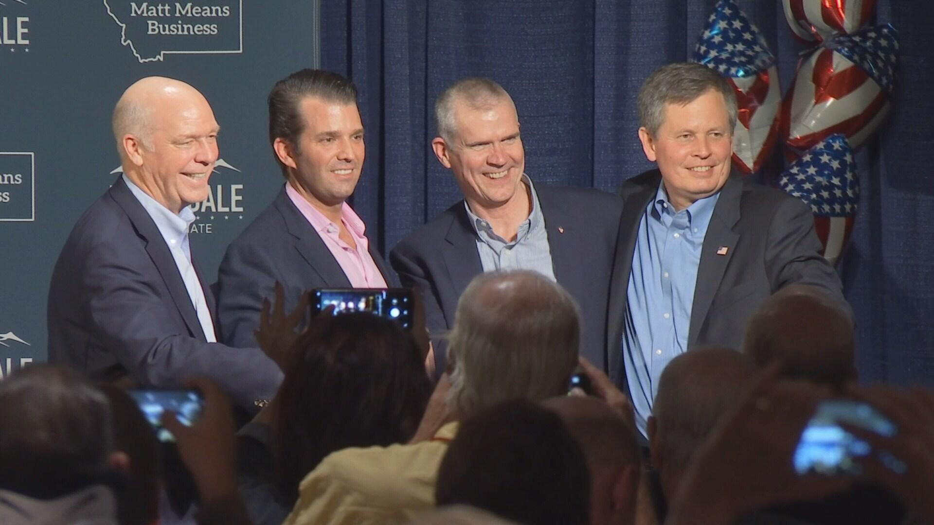Greg Gianforte, Donald Trump Jr., Matt Rosendale and Steve Daines