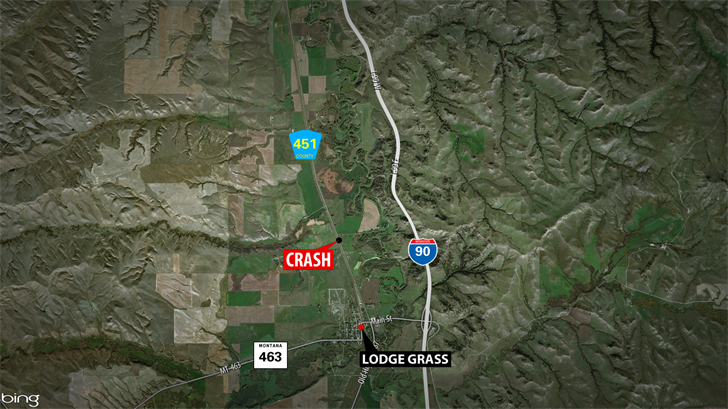1 dead in crash near Lodge Grass (MTN News Photo)