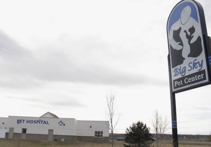 Yellowstone County contracts with a private veterinary service, Big Sky Pet Center at 7565 Entryway Drive, to temporarily house impounded dogs and, rarely, cats. Ed Kemmick/Last Best News
