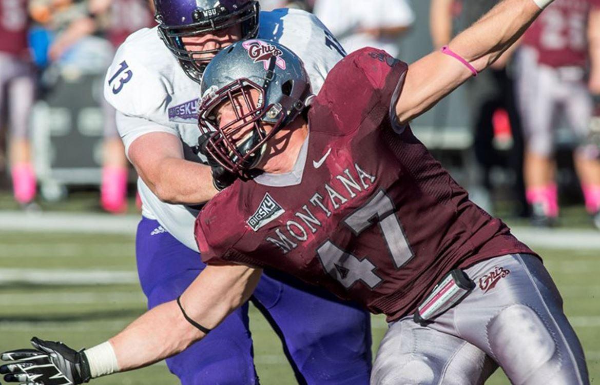 Griz defensive end Derek Crittenden is one step closer to winning a Rhodes Scholarship (Courtesy Montana Sports Info)