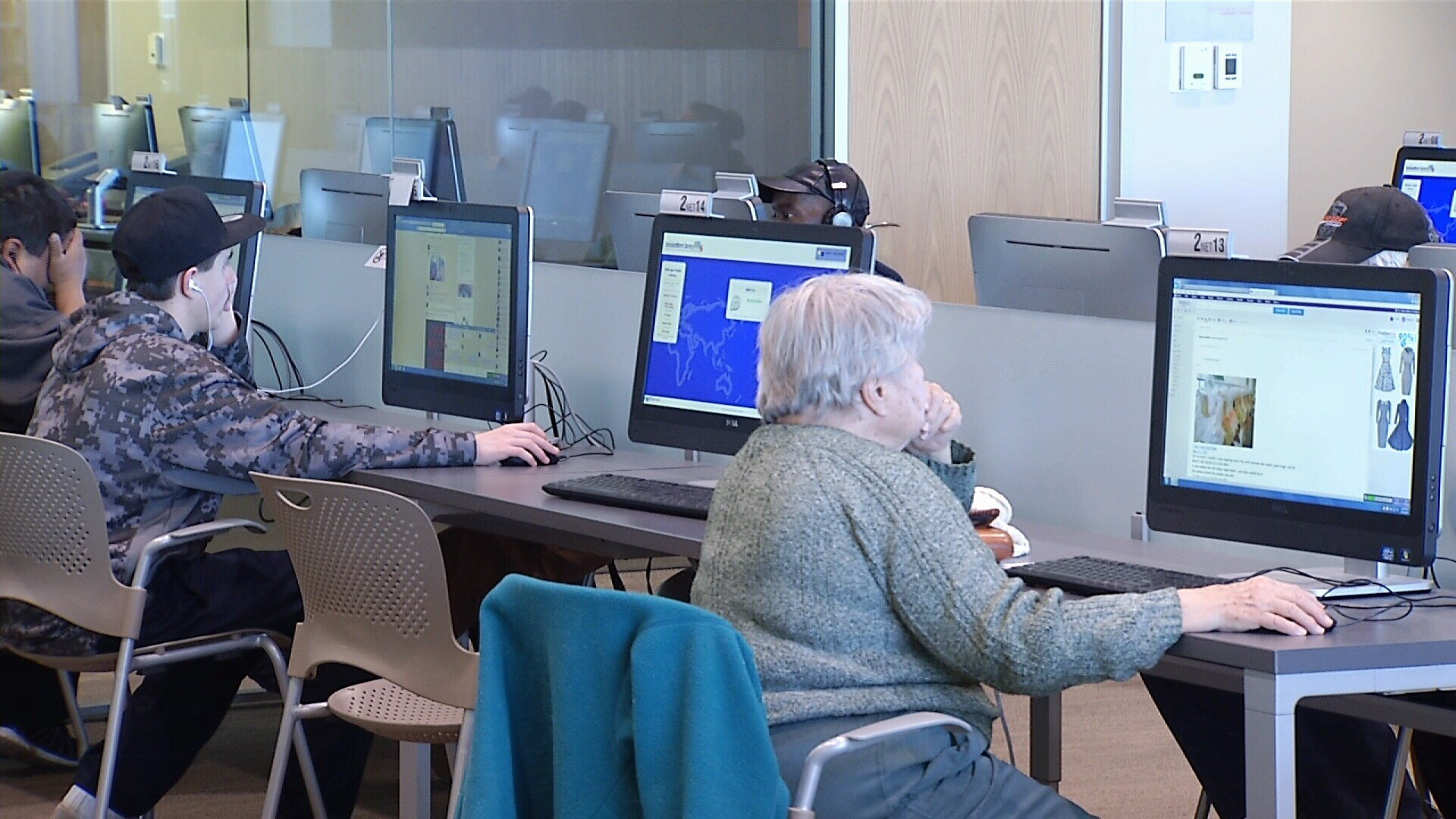 The computer lab at the Billings Public Library is open to everyone.
