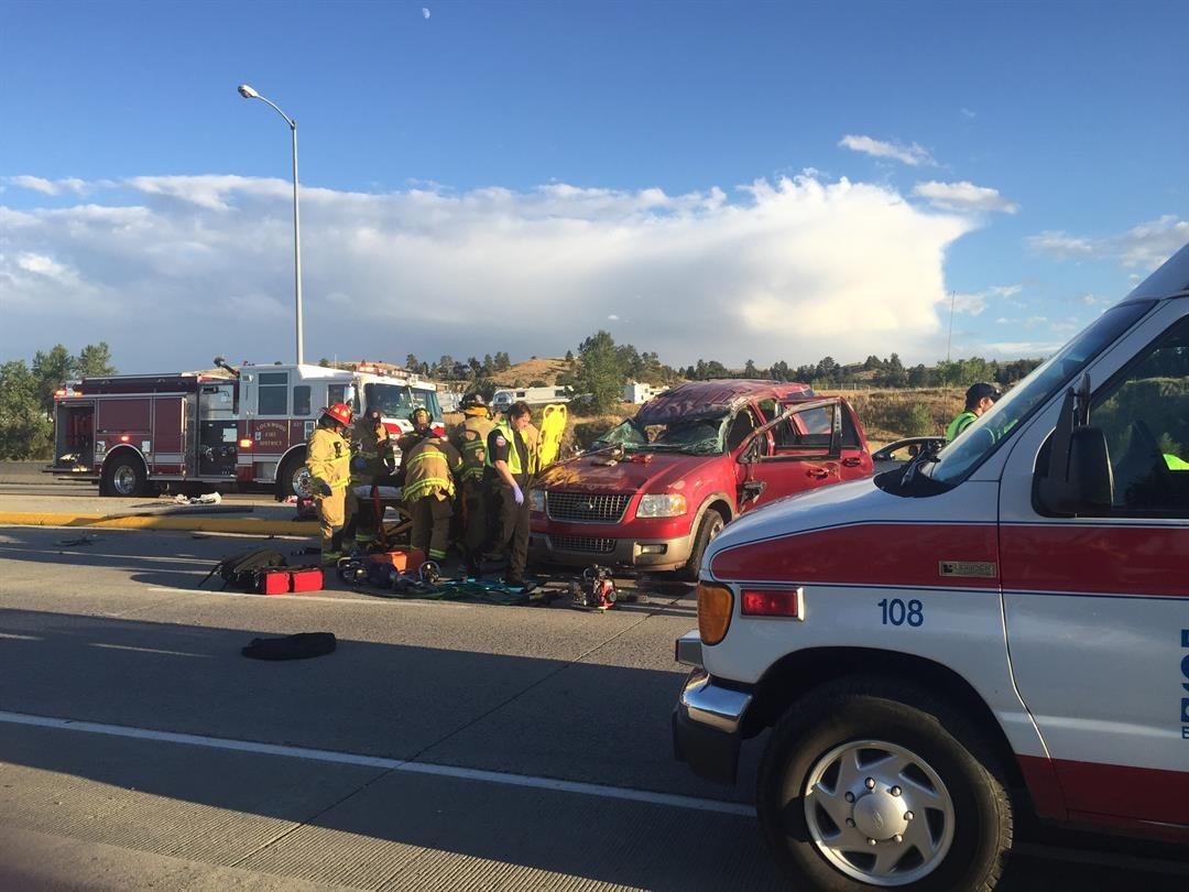 four vehicles involved in rollover crash on dick johnston bridge four ambulances and five firetrucks were on the scene mtn news