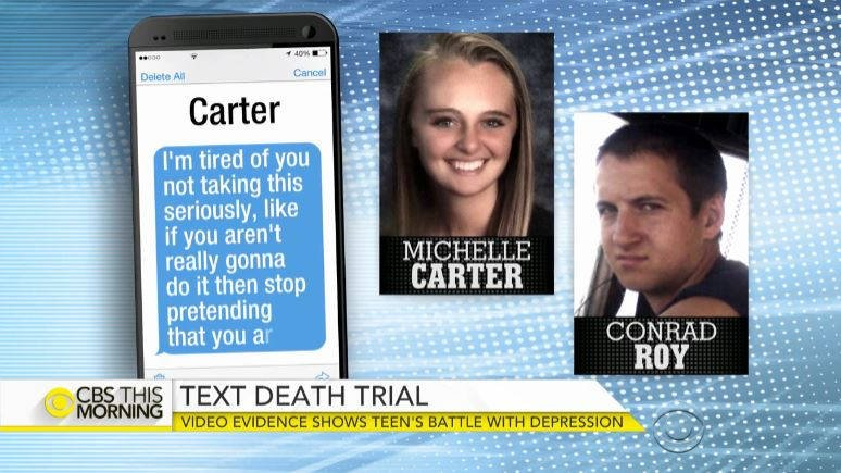 Image result for Judge finds Michelle Carter guilty of manslaughter in texting suicide case
