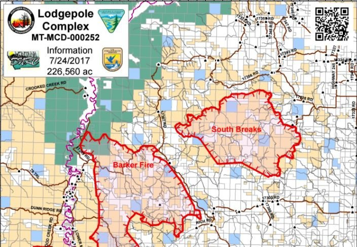 Monday Update Lodgepole Complex Fire At 226 000 Acres