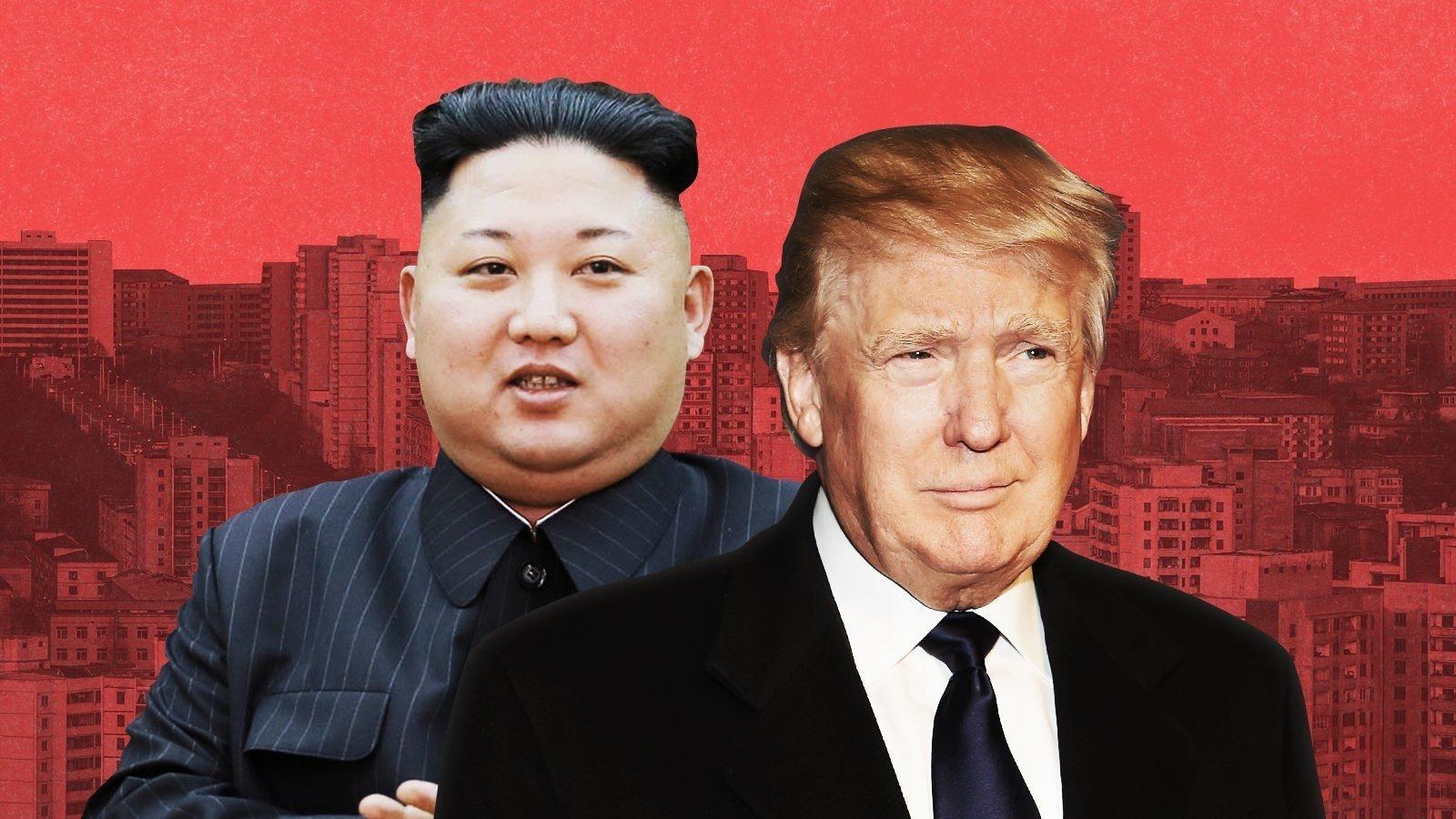 Kim Jong Un and Donald Trump. CNN.