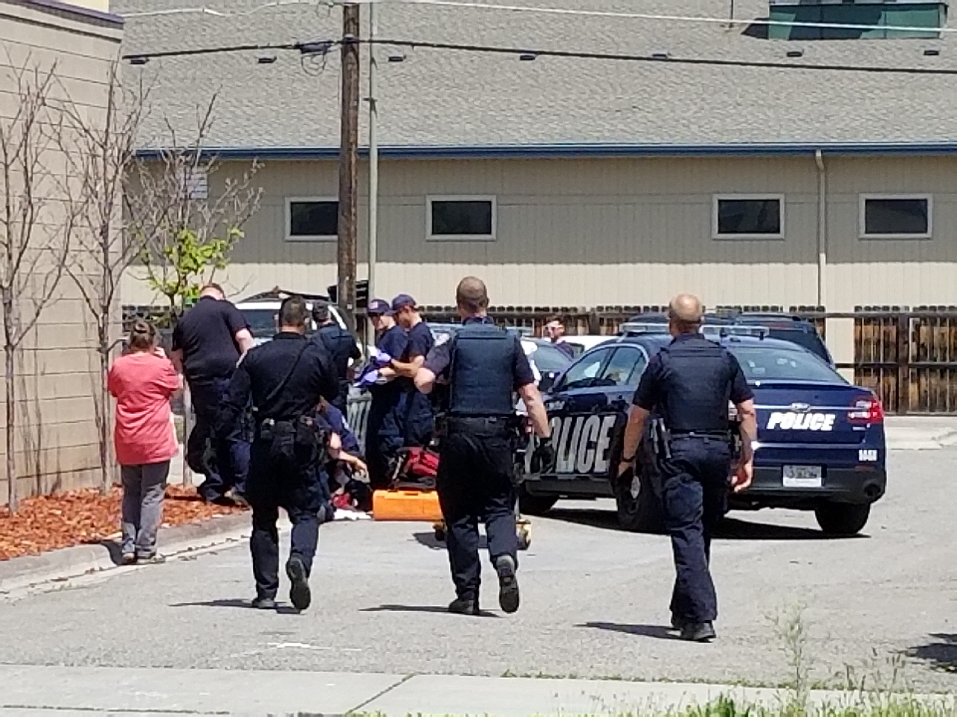Billings Police on the scene of a reported shooting (MTN News/Paul Humphrey Photo)