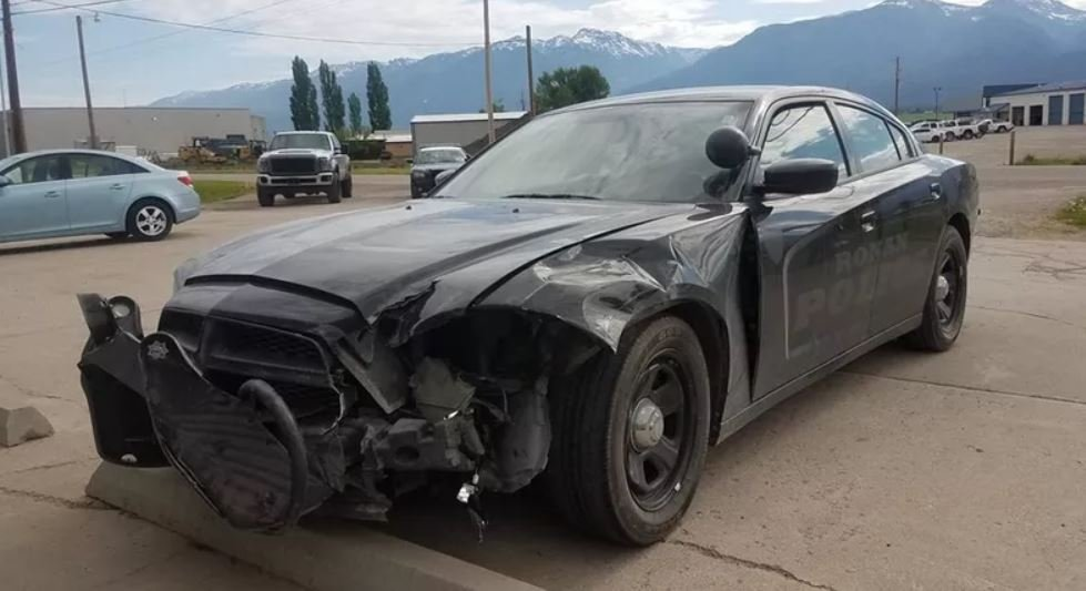 A police cruiser was damaged in an incident involving a drunk driver.