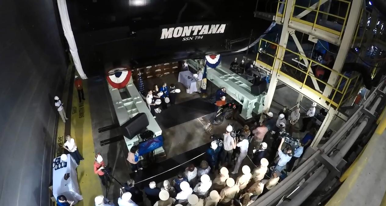 USS Montana submarine more than half complete, emblem to