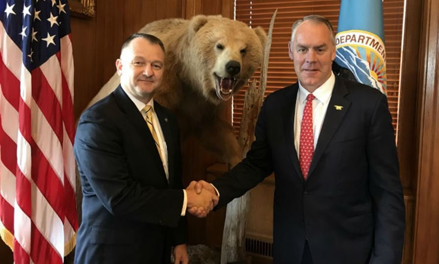 Cameron Sholly (left) has been appointed as the new superindent of Yellowstone National Park. (Photo: U.S. Department of the Interior)