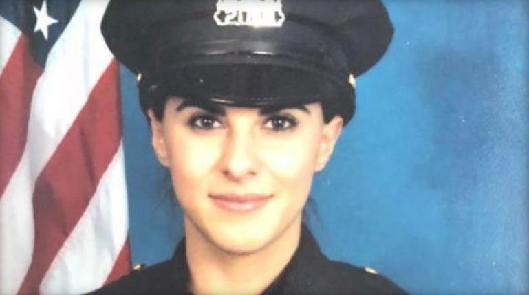 Hastings-on-Hudson police officer Jessie Ferreira Cavallo made a risky jump off an overpass to reach an injured boy. / HASTINGS-ON-HUDSON POLICE DEPARTMENT