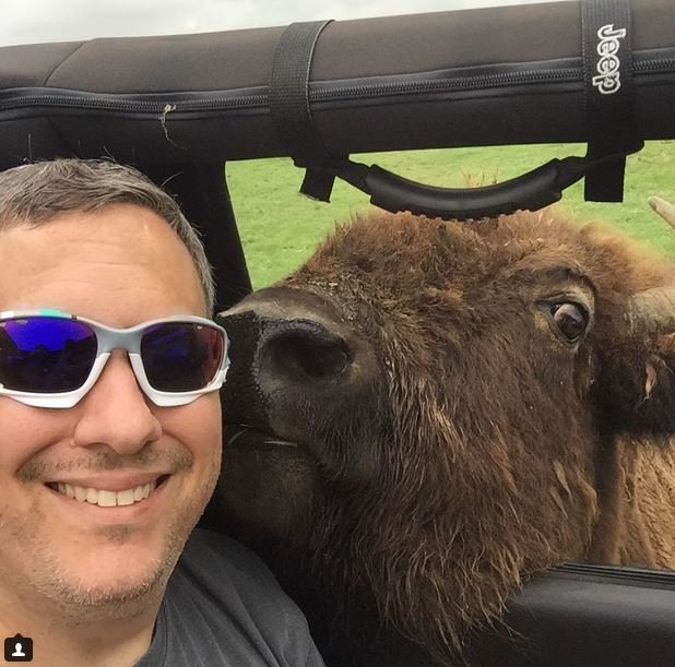The bisonselfie is really a thing and it s terrifying for Bison motors great falls