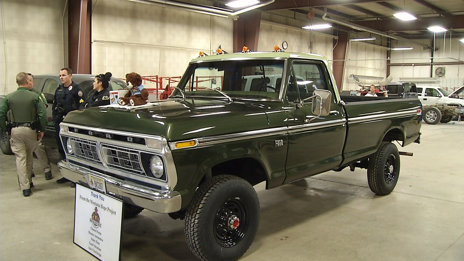 montana hope project restores classic pick-up truck for roundup