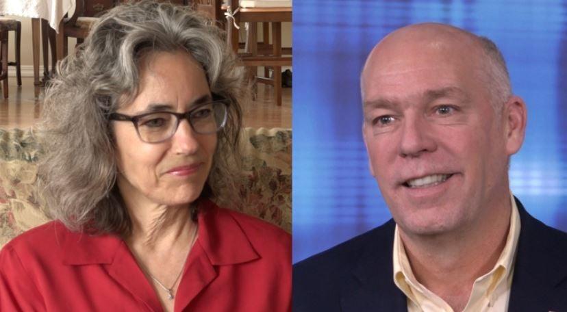 Kathleen Williams and Greg Gianforte